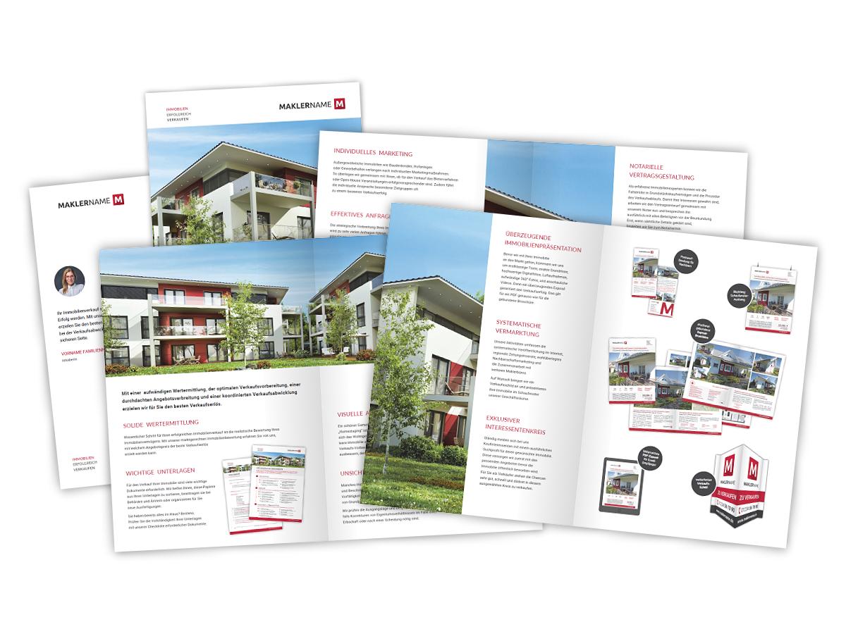 Image brosch re immobilienmakler einkaufs prospekt verkauf for Immobilienmakler verkauf