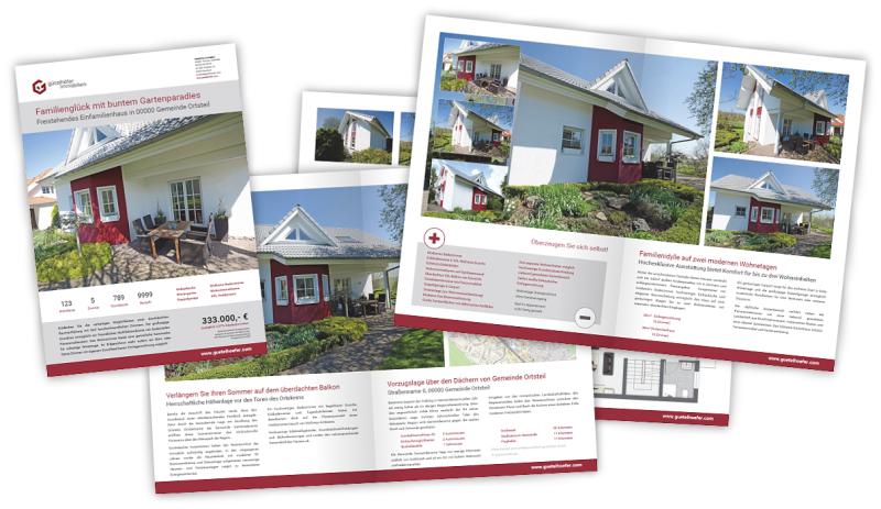 Werbeagentur Immobilienmakler Immobilienmarketing Broschüren Prospekte Exposé