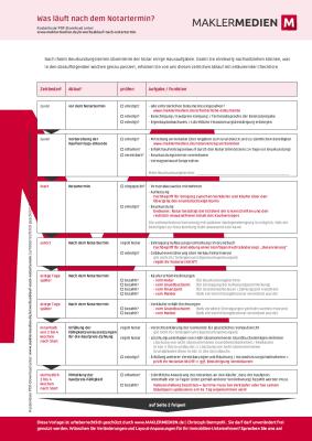 Hauskauf Schlüsselübergabe Nach Notartermin : formulare checklisten vorlagen f r immobilienunternehmen ~ Markanthonyermac.com Haus und Dekorationen