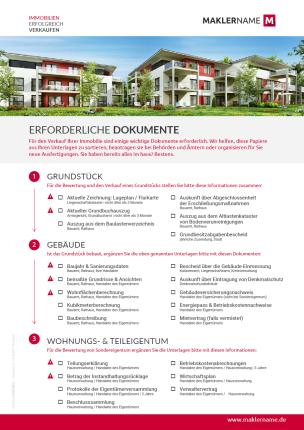 Vorlagen, Checklisten und Formulare für Immobilienmakler